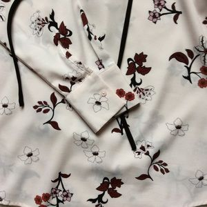 Marina Luna Tops - Long Sleeve Printed Blouse with Ties Size S